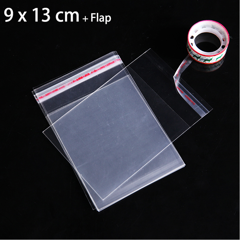 1000 шт. 9x13 см Специальное предложение Прозрачный целлофановый пакет ясно самоклеющиеся Печать Пластик Сумки