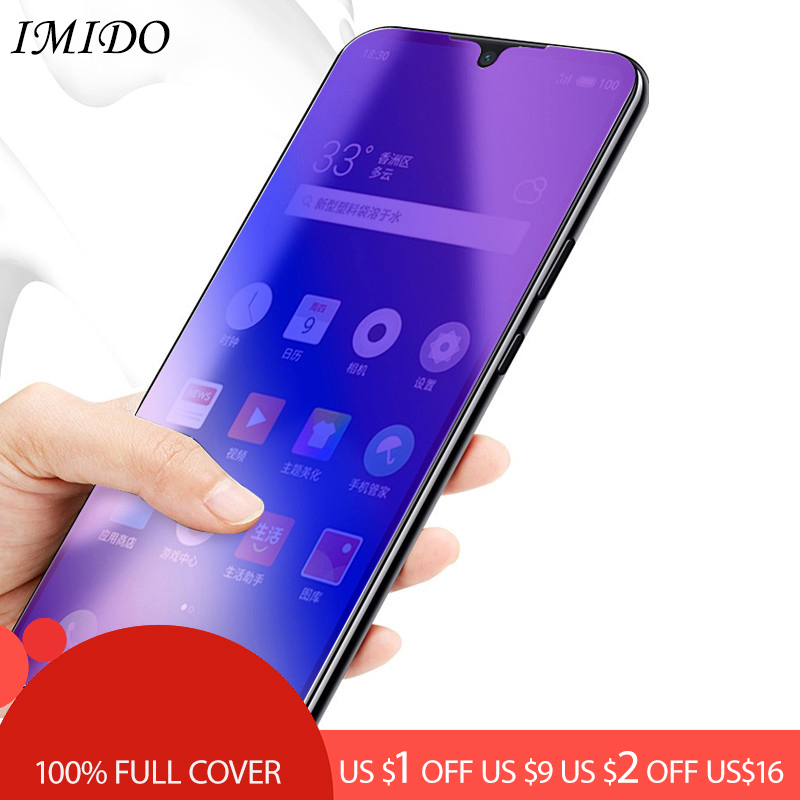 100% Full Coverage Anti Blue Screen Protector For OPPO F5 F7 F9 Anti-Blue Purple Light Tempered Glass Film For OPPO F9 Pro Film
