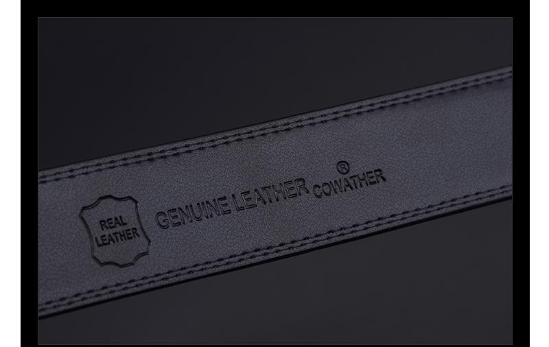 حزام COWATHER  جلد طبيعي للرجال ذو جودة عالية 16