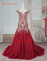 2017 Luxury Beading Wine Color Formal Evening Full Beading Evening Gown Special Design Prom Dress Hot