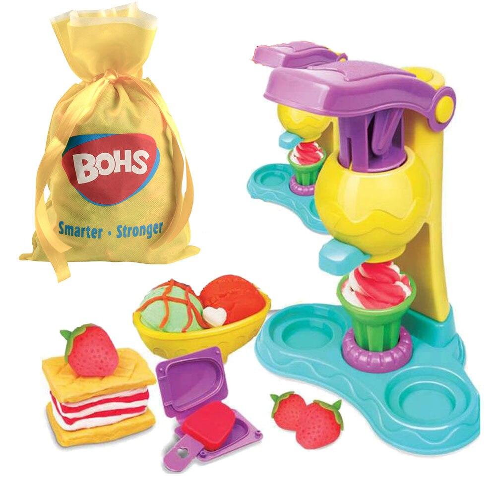 BOHS Knetmasse Ton Teig Plastilin Eis Mould Spielen Kit Diy Spielzeug, Geschenk Tasche Verpackung