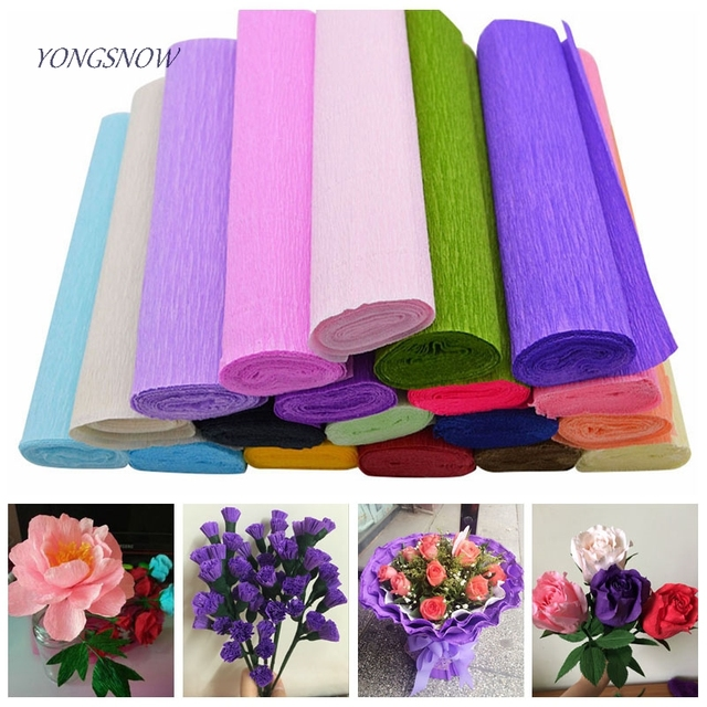 250x25cm flower making crepe papers diy flowers bouquet wrapping 250x25cm flower making crepe papers diy flowers bouquet wrapping packing material paper craft home backdrop decor mightylinksfo