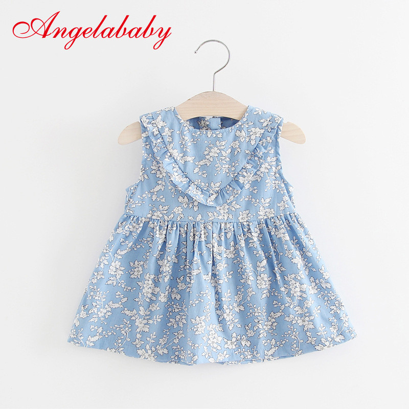 a83555e6d577 Dresses for Girls Summer Floral Print Cotton Baby Dress 2019 Lovely Flower Print  Princess Dresses Baby Girl Clothing For 0-2 Kid