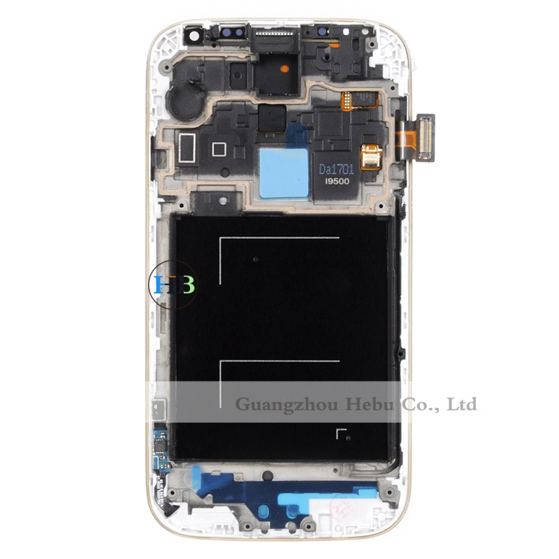 Brand New Lcd Display With Frame For Samsung Galaxy S4 I9500 I9505 With Touch Screen Digitizer Assembly Free Shipping DHL 100Pcs brand new lcd for samsung galaxy a3 a3000 a300 a300x a300f screen display with touch digitizer assembly