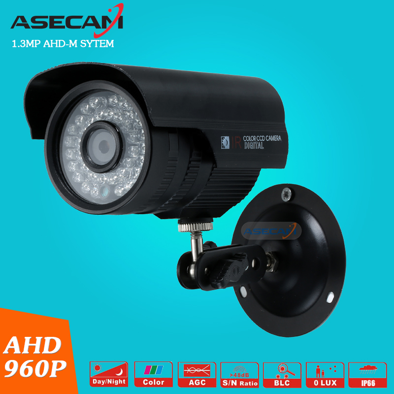 CCTV AHD HD 960P Video Surveillance Waterproof Outdoor Metal Bullet Security Camera LED Infrared Night Vision With Bracke wistino cctv bullet ip camera xmeye waterproof outdoor 720p 960p 1080p home surverillance security video monitor night vision