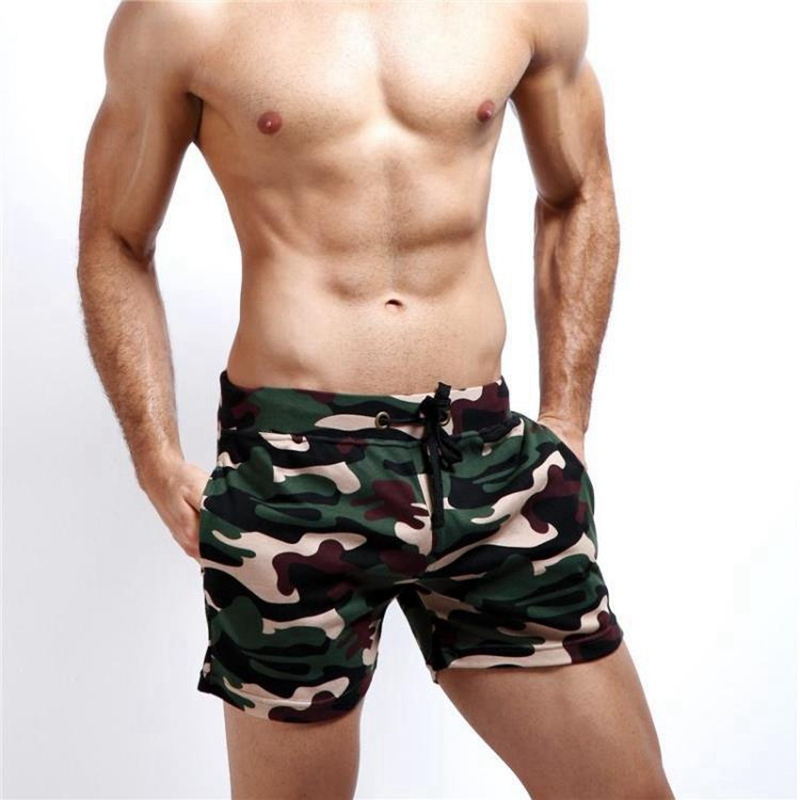 3 Colors Camouflage design 100% Cotton Men's Beach   Shorts   Summer Swimmer   Board     Shorts   for Man Male Sporting   Shorts