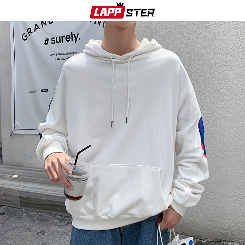 Image 4 - LAPPSTER Men Japanese Streetwear Hip Hop Hoodies 2020 Autumn 