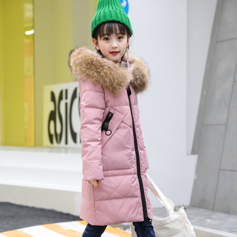 kids down jacket for girl children's cold winter jackets boys coat Long Pattern Child girls Clothes parka -20-30degree 2017 Warm 2017 winter down jackets for boys