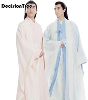 2019 summer men ancient costume male chinese folk dance costume adult chinese national stage cospaly tang clothing women hanfu