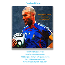 Oil Paintings For Living Room Hand Painted wall Decorative Pictures  Football Star French Zinedine Zidane canvas painting zidane