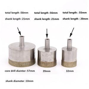 10 мм хвостовик спеченный алмазное ядро сверло для бурения камня керамического стекла