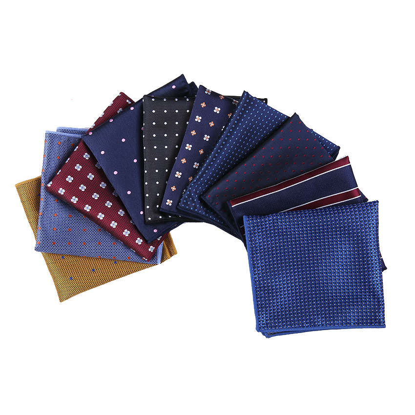 2018 New Fashion Handkerchief Printed  Dot Plaid Pocket Square For Men Suits Wedding Party Hankies Mouchoir Homme