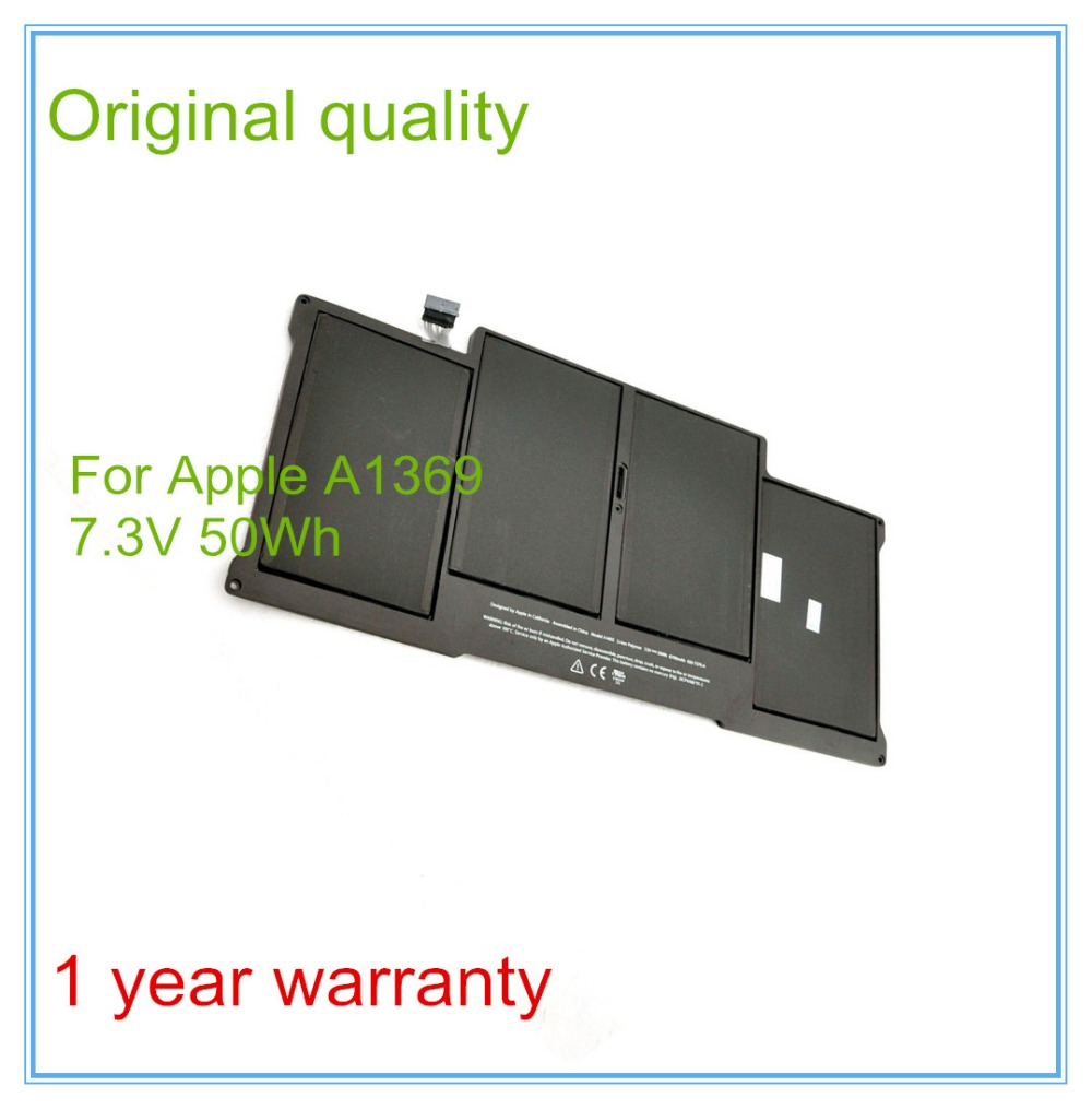 New original battery for Apple MacBook Pro 13 2011 A1369 2012 batteries genuine original computers batteries new for d ell adamo 13 battery n572j p715m k742j cn 0k742j black and silver 6cell