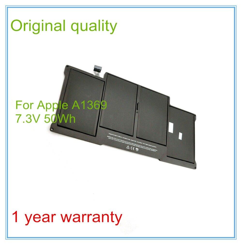 Nouvelle batterie d'origine pour Apple MacBook Pro 13 2011 A1369 2012 batteries