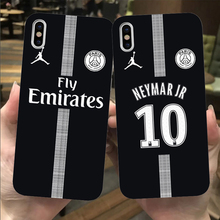 Franch football player Neymar soft black TPU Cases Cover for