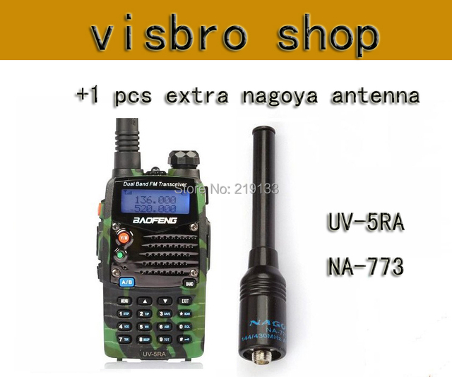 New Walkie Talkie Baofeng UV 5RA For Scanner Radio VHF/UHF Dual Band Ham  Radio Transceiver Free+NA 773 antenna-in Walkie Talkie from Phones &
