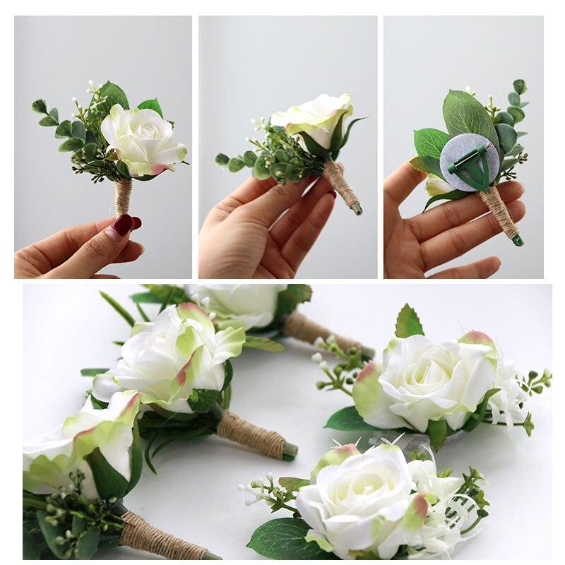 wedding decoration mariage rose wrist corsages