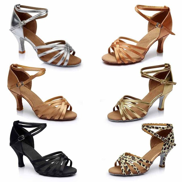 d1ed6ff094 US $12.98 20% OFF|size34 41 brand girl lady ballroom tango latin women  dancing shoes women salsa 5cm and 7cm heel high dance shoes for women  WD007-in ...