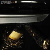 Японский меч самурая Полный Тан Бо привет 1095 высокоуглеродистой Сталь лезвие сплав Дракон Tsuba Sharp Катана Битва готов можно вырезать из бамбу