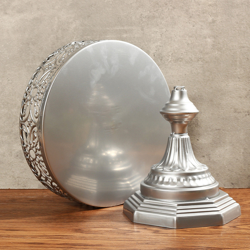 New Iron Metal Round Cake Stand Wedding Birthday Party Cake Display Holder Stands Home Kitchen Reuseble Baking Cakes Rack Tools in Stands from Home Garden