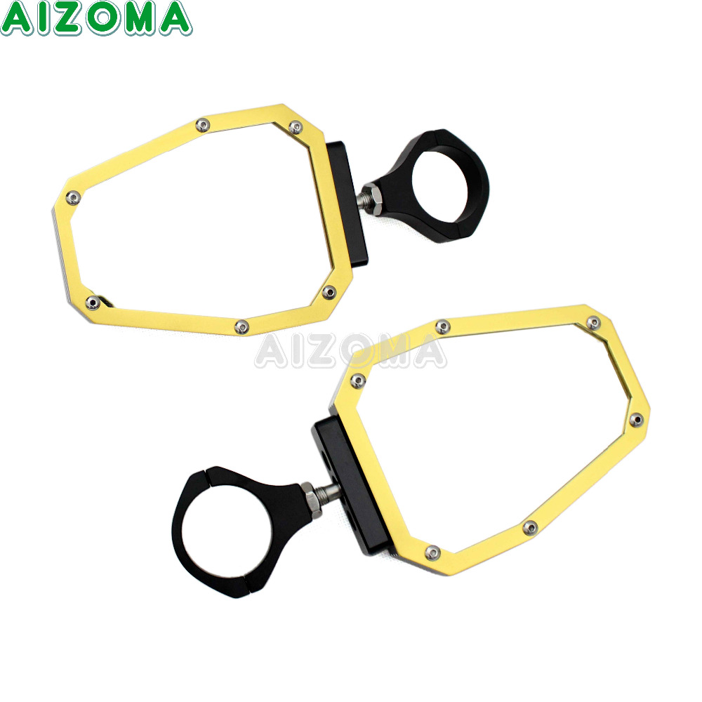 UTV Aluminum Side Rearview Mirror 1.75 Roll Cage Clamp Pair For Polaris RZR/Ranger Yamaha Rhino/Viking Arctic Cat Wildcat ATV 1 75 aluminum motorcycle mirrors motor rear side mirror round 5 case for polaris rzr ranger utv sand golf car tc yamaha tubing