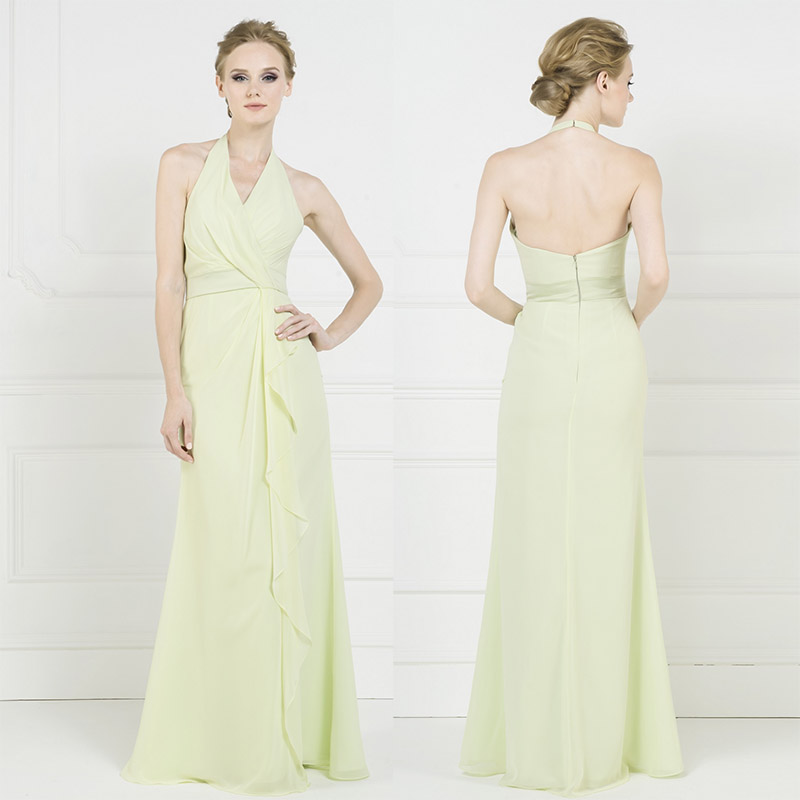 Popular Light Green Chiffon Bridesmaid Dresses-Buy Cheap Light ...