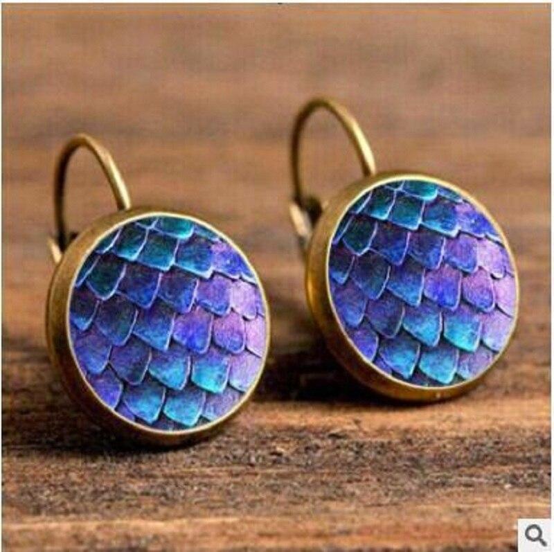 Exknl Boho Flower Drop Earrings For Women Vintage Jewelry Geometric Pattern Round Earings Bijoux boucles d'oreilles bohemia 8