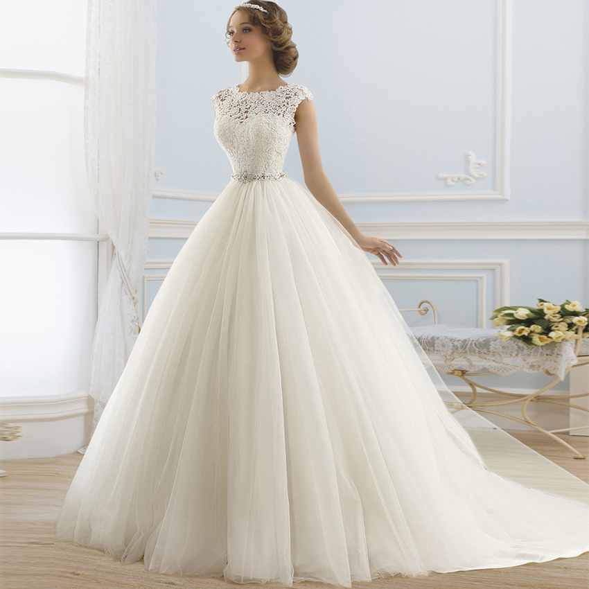 Vestido De Noiva Renda Vintage Lace Princess Wedding Dress: Online Get Cheap White Ball Gowns -Aliexpress.com
