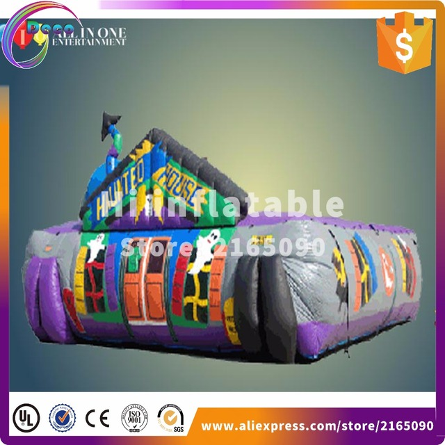 884m halloween inflatable maze inflatable haunted house halloween inflatable haunted maze for