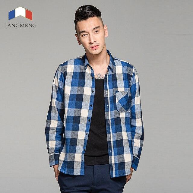100% cotton flannel plaid casual shirt  1