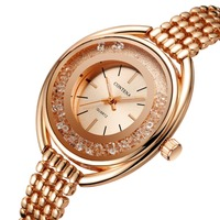 Rose Gold Watch Women Luxury Brand New Ladies Quartz Watch Gifts For Girl Alloy Stainless Steel Bracelet wrist watches