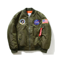 Thin Mens MA1 Bomber Jacket USAF Kanye West Hip Hop Male Windbreaker Jacket Flag Mens Nasa Jacket MA666