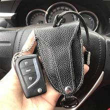 Prawdziwa skóra bydlęca mężczyźni i kobiety torba na klucze samochodowe z czarny kolor Auto klucz uchwyt ochronny dla BMW Key pokrowiec na vw portfel na klucze