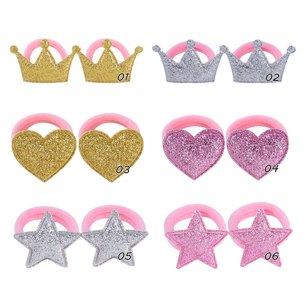 Hair Accessories for girls Scrunchies Elastic Hair Bands Baby Cute Rubber Bands Pentagram for hair ties Headband Hair Rope in Hair Accessories from Mother Kids