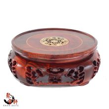 Special rosewood carving handicraft circular base of real wood Buddha stone vases, furnishing articles