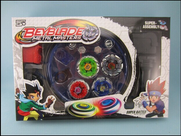 Retail 1Pcs Free shipping! Classic toys beyblade metal fusion spinning top gyroscope 4 beyblade for sale alloy gyro plate kit be