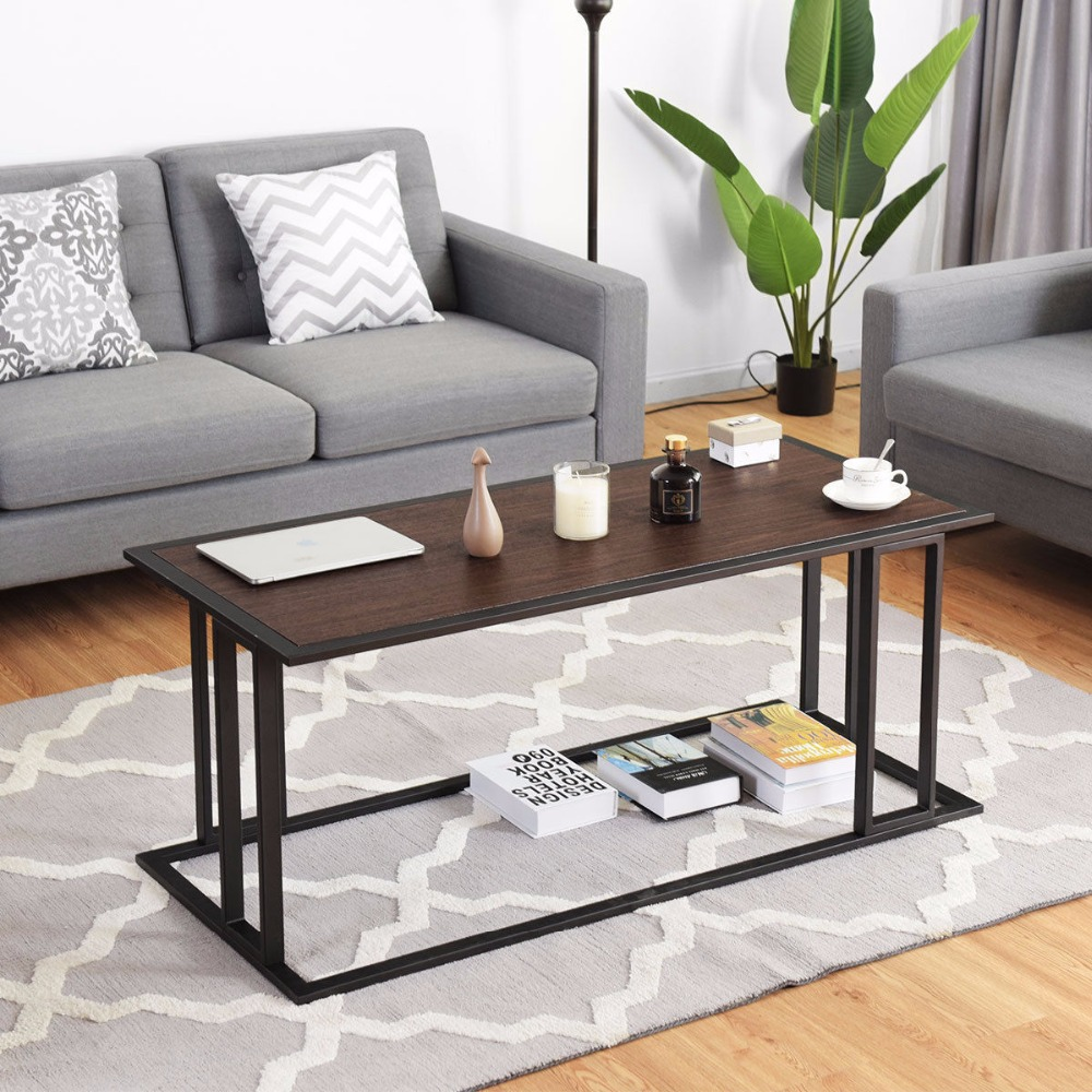 Giantex Coffee Cocktail Accent End Table Side Sofa Living Room Essentials Furniture NEW Living Room Furniture HW58265 цена