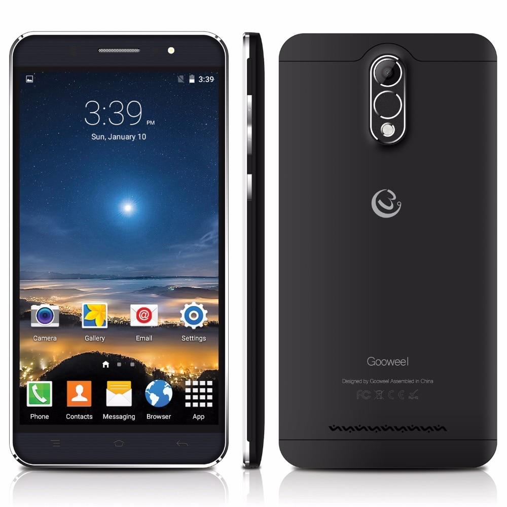 Gooweel M3 Smartphone 6.0 אינץ IPS מסך MTK6580 quad core נייד טלפון 8MP מצלמה GPS 1GB RAM 8GB ROM 3G טלפון סלולרי