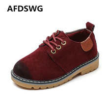 AFDSWG spring and autumn wine red PVC children leather shoesgray shoes for kids