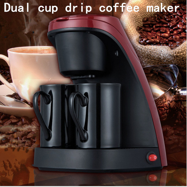 Two Cups Of Coffee Machine Household Commercial Drip Automatic Mini