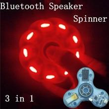 2017 HOT Bluetooth Speaker Finger Fidget Spinner with led lights Antistress Funny hand tri spiner fidget Music toy for Kid Adult