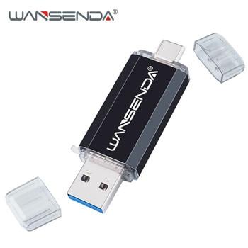 Hotsale WANSENDA OTG USB Flash Drive Type C Pen Drive 512GB 256GB 128GB 64GB 32GB 16GB USB Stick 3.0 Pendrive for Type-C Device 12