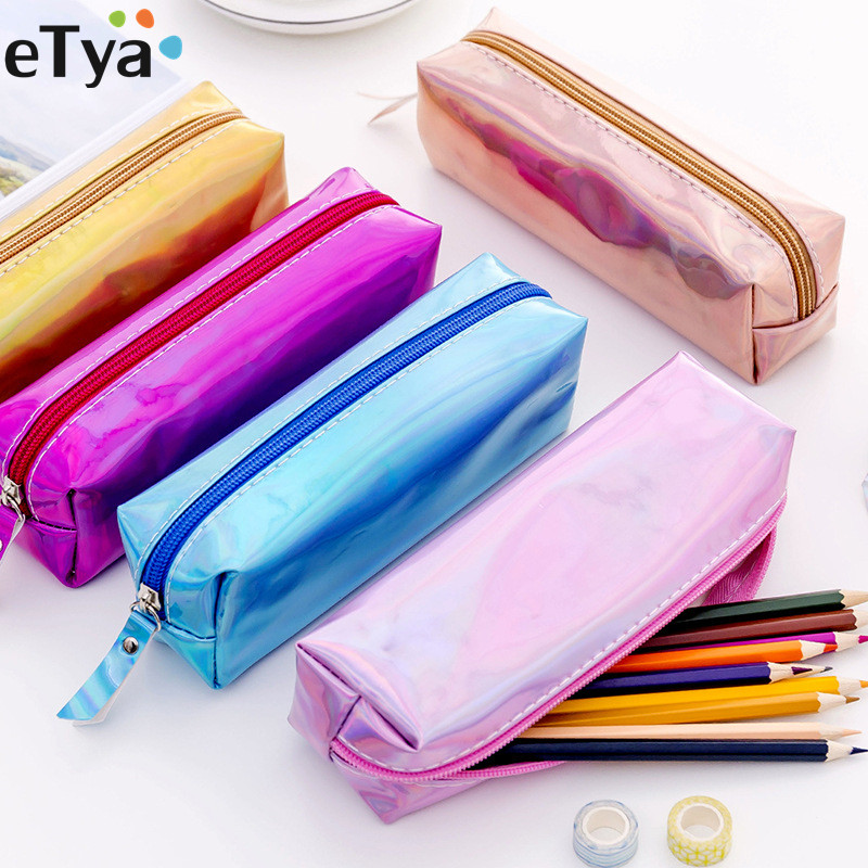 ETya Women Fashion Travel Makeup Bag Female Neceser Cosmetic Bag Organizer Set Pu Zipper Travel Make Up Box Bag  Pencil Bag Case