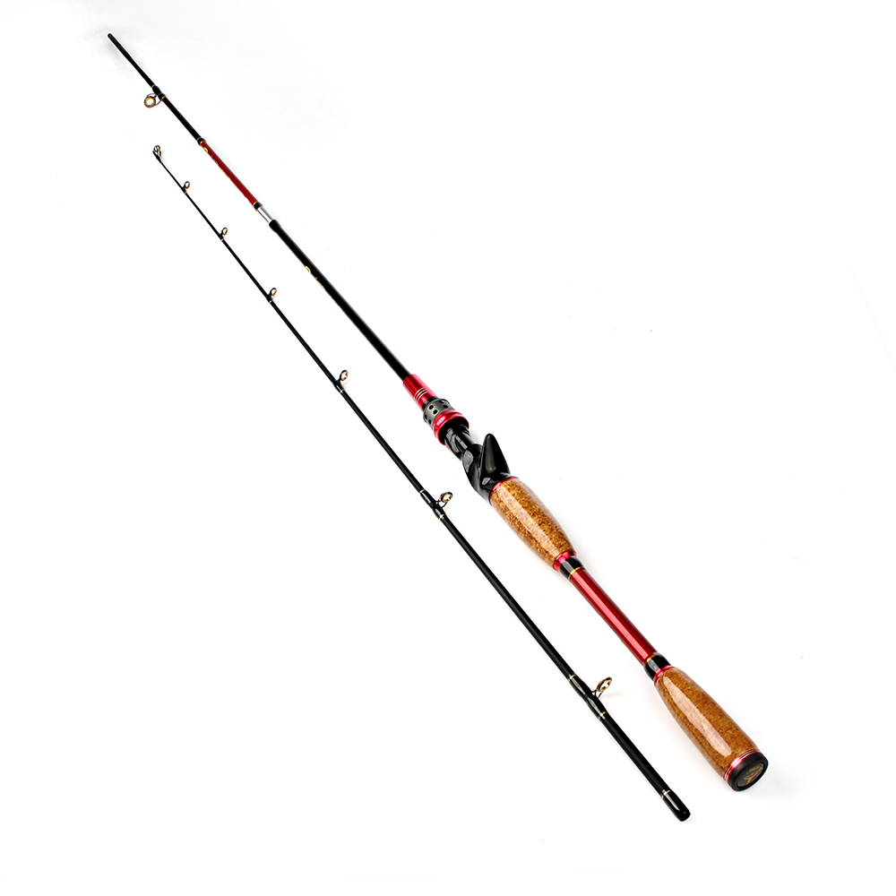 FISH KING 99% Carbon 2.1-2.4m Hard 2 Section M Telescopic Fishing Lure  Rod Baitcasting Rod Olta Vara De Pesca Acesorios goture 2 1 2 4m baitcasting fishing rod carbon fiber medium fast action 2 section lure fishing rods