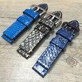 Aotu projeto especial de moda python couro do couro genuíno assista bracelete banda para panerai pam111 20/22/24/26mm retro + ferramentas gratuitas