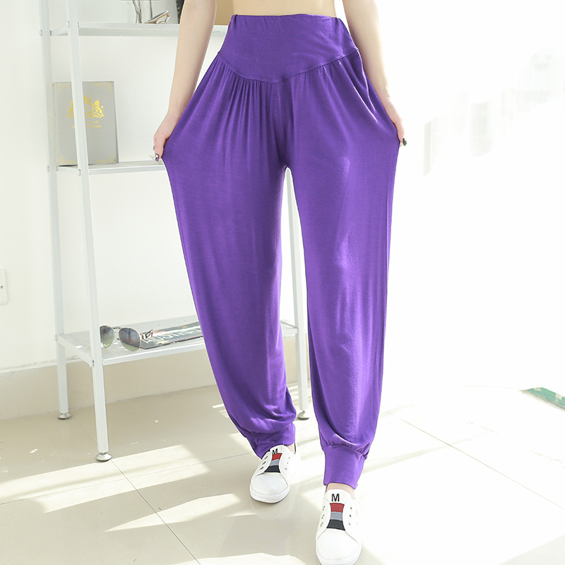 Loose Casual Sleep Pants Women Mermaid Lounge Wear Summer Thin Modal Sleepwear High Waist Wear Home Pants Pug Corgi
