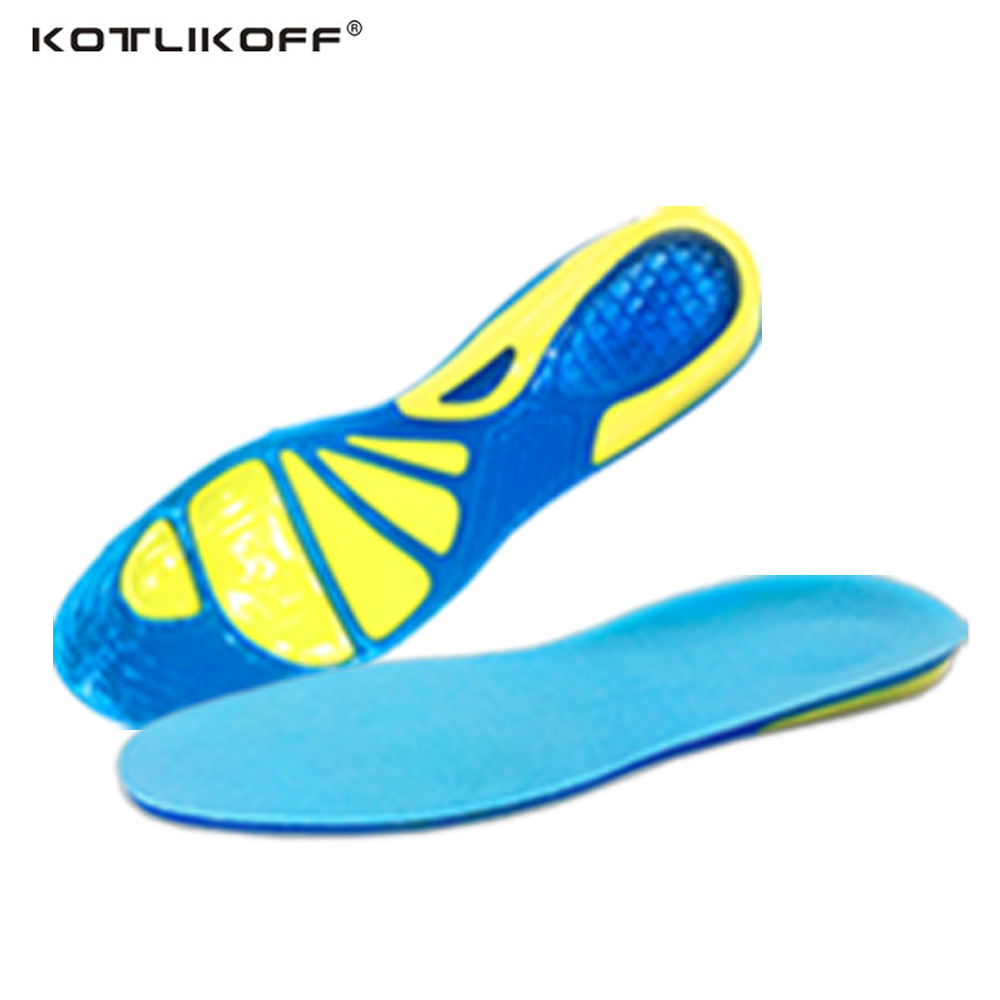 KOTLIKOFF Gel Silicone Spur Insoles Shoe Sole For Sports Shoes Men/Women Silicone Insoles Plantar Fasciitis Accessories Inserts bocan gel insoles for spur plantar