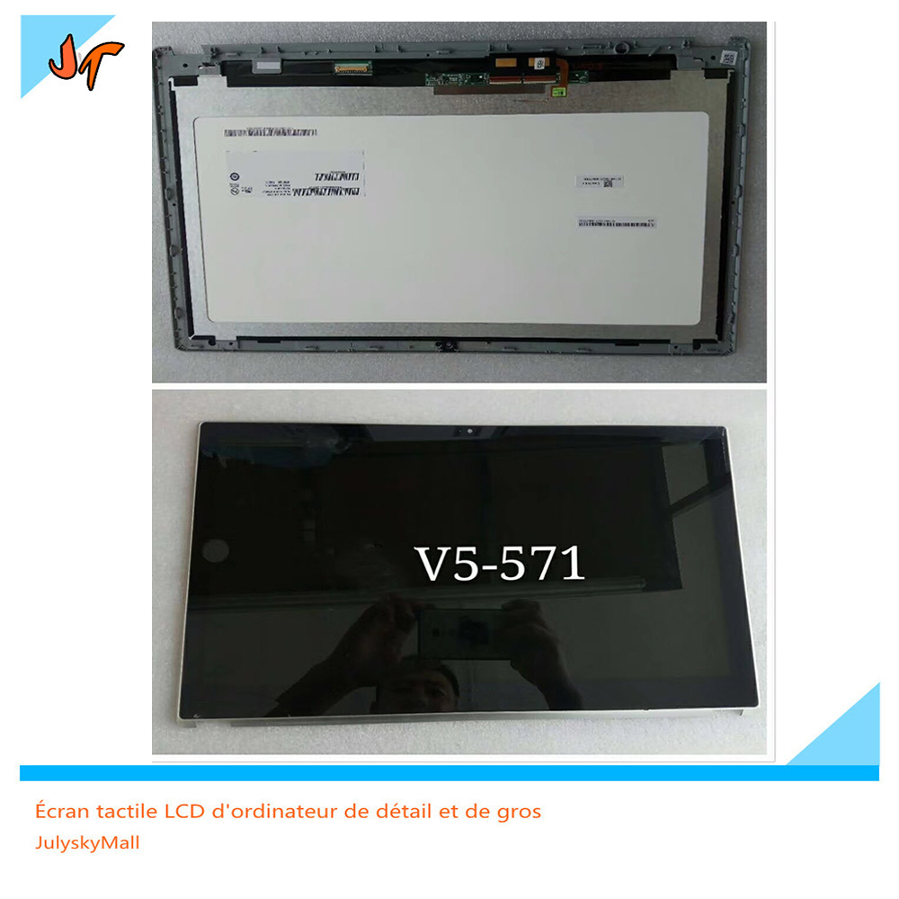 Original Replacement for Acer V5-571P v5-571 Assembly LCD Screen B156XTN03.1 touch screen with digitizer for acer for liquid z150 z5 lcd display with touch screen digitizer assembly replacement tracking number free shipping