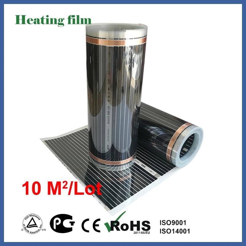 Tf Ver Infrarood Vloerverwarming Film 10 Vierkante Meter 220 V Carbon Fiber Floor Verwarming Film Voor Woonkamer Verwarming Elektrische Kachels Aliexpress