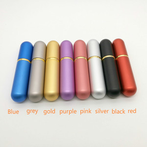 Image 2 - 10pcs/lot 5ml Colored Aluminum Nasal Inhaler with high quality white cotton wicks, aromatherapy metal inhaler for essential oils